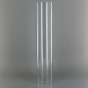10in Tall X 2in Diameter Clear Glass Cylinder