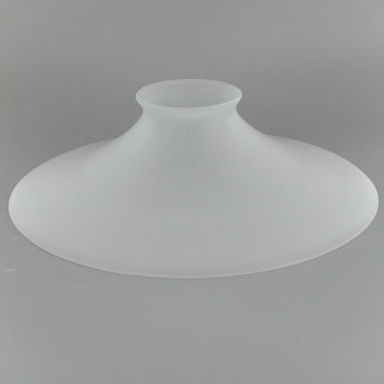 8in. Acid Frosted Flat Cone Shade with 2-1/4in. Neck