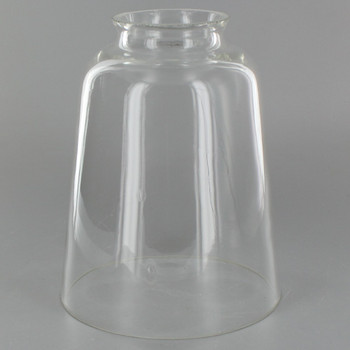 Clear Hand Blown Straight Bell Glass Lamp Shade with 2-1/4in. Neck