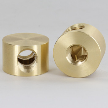 2 - 3/8ips Side Holes and 3/8ips Bottom Hole T  Disc Armback - Unfinished Brass