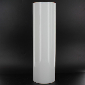 10in Tall X 3in Diameter White Glass Cylinder