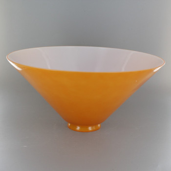 Apricot French Cased Cone Shade with 2-1/4in. Neck