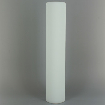 10in Tall X 2in Diameter. Acid Frosted Glass Cylinder