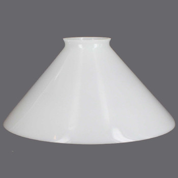 12in. White Cone Shade with 3-1/4in. Neck
