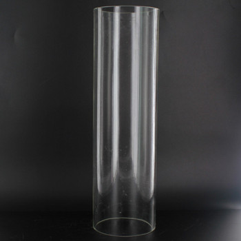 10in Tall X 3in Diameter Clear Glass Cylinder