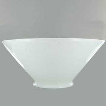 14in. French Cased White Cone Shade with 6in. Neck