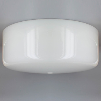 14in. White Glass Empire Shade with 7/16in. Center Hole