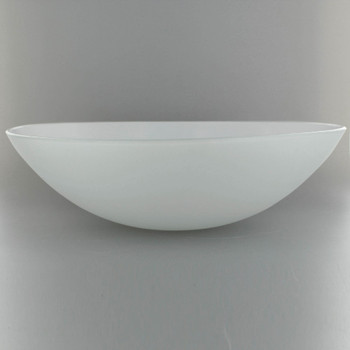 15in Diameter X 3-1/4in. Deep Sandblasted/White Painted Dish with 1/2in