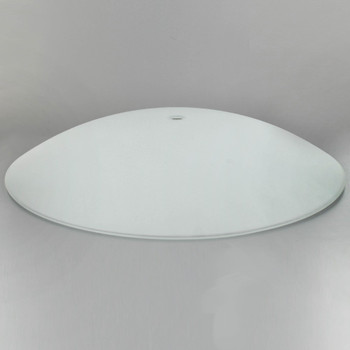 17in Diameter Sandblasted/White Painted Dish with 1/2in. Hole
