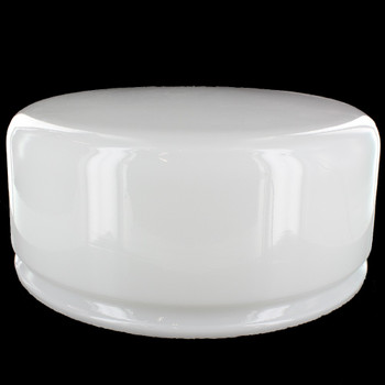 10in.  Fitter Deep Dome Shade. Milk White Opal Glass.