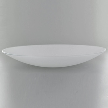 13-3/4in Diameter Sandblasted/White Painted Dish with 1/2in. Hole