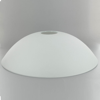 15in Diameter X 3-1/4in. Deep Sandblasted/White Painted Dish with 2in