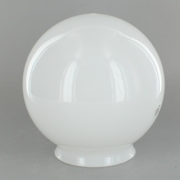 5in. Hand Blown Glass Ball with 3-1/4in Neck - Opal Gloss