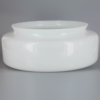 10-1/8in. Opal Glass Drum Shade with 8in. Neck