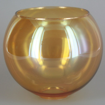 5in. Amber Glass Open Ball with 1in. Hole