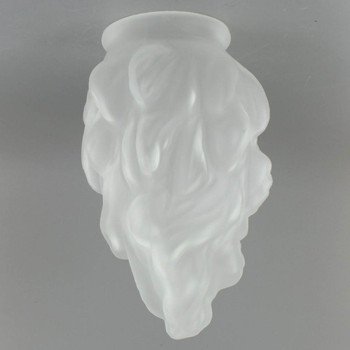 Medium Flame Shape Frosted Glass with 3-1/4in. Neck