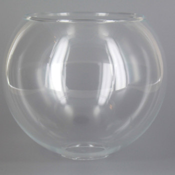 5in. Clear Glass Open Ball with 1in. Hole