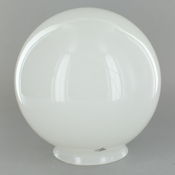 6in. Hand Blown Glass Ball with 3-1/4in. Neck - Opal Gloss