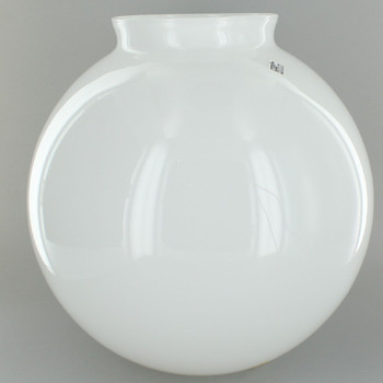 8in. Hand Blown Opal Gloss Glass Ball with 4in. Neck