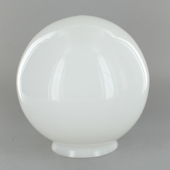 6in. Hand Blown Glass Ball with 3-1/4in. Neck - Opal - Made in USA