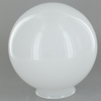 5in. Opal White Glass Ball with 2-1/4in. Neck