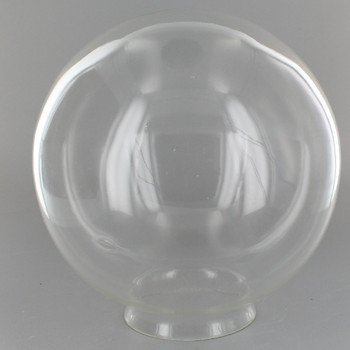 7in. Hand Blown Glass Ball with 3-1/4in. Neck - Clear