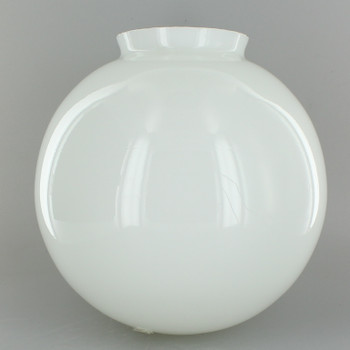 7in. Hand Blown Glass Ball with 3-1/4in. Neck - Opal Gloss