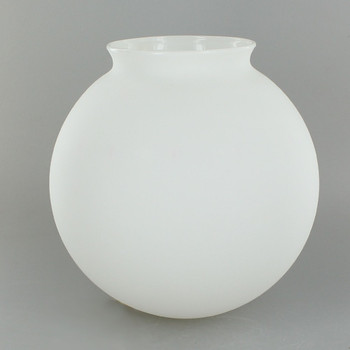 6in. Hand Blown Glass Ball with 3-1/4in. Neck - Satin Opal Matte