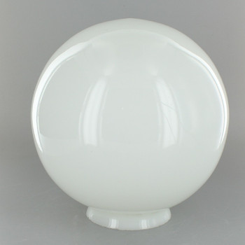 8in. Hand Blown Opal Gloss Glass Ball with 3-1/4in. Neck