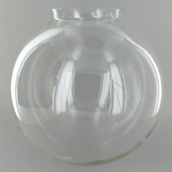 8in. Hand Blown Clear Glass Ball with 4in. Neck - USA