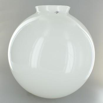 10in. Hand Blown Opal Gloss Glass Ball with 4in. Neck