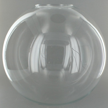 10in. Hand Blown Clear Glass Ball with 4in. Neck - USA