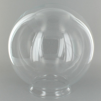 8in. Hand Blown Clear Glass Ball with 4in. Neck