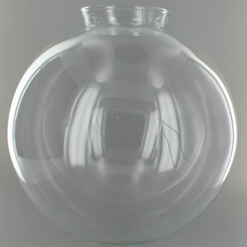 10in. Hand Blown Clear Glass Ball with 4in. Neck