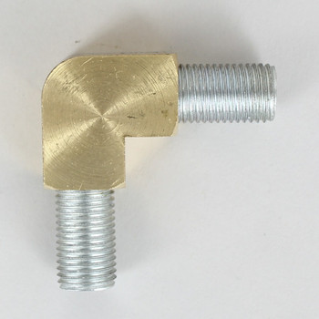 1/4ps Threaded - Rounded Brass 90 Degree  Armback - Unfinished Brass