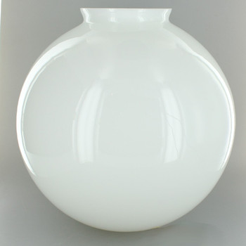 10in. Hand Blown Opal Gloss Glass Ball with 4in. Neck - USA