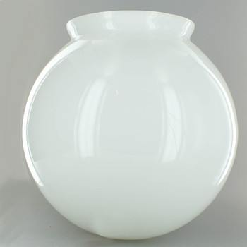10in. Hand Blown Opal Gloss Glass Ball with 6in. Neck - USA