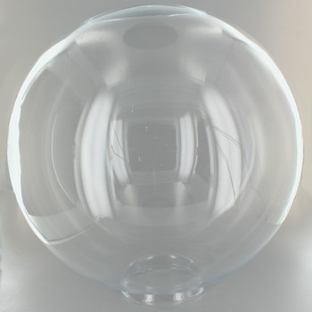 12in. Hand Blown Clear Glass Ball with 4in. Neck - USA
