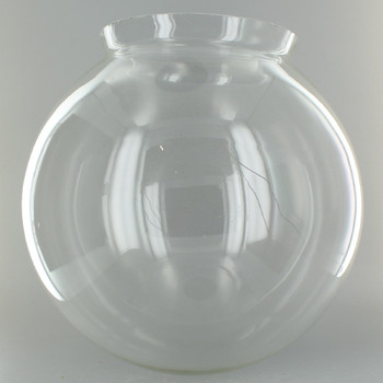 10in. Hand Blown Clear Glass Ball with 6in. Neck - USA