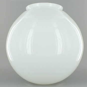 10in. Hand Blown Opal Gloss Glass Ball with 5in. Neck - USA
