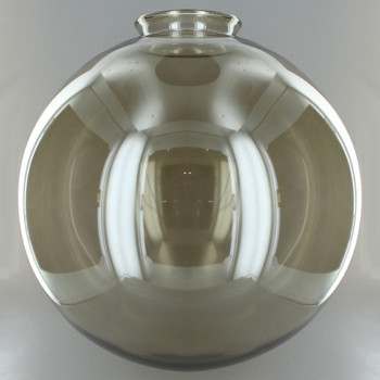 12in. Hand Blown Smoked Glass Ball with 4in. Neck