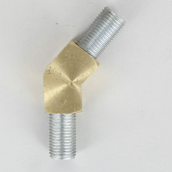 1/4ips Female Threaded - Rounded Brass 45 Degree Armback - Unfinished Brass