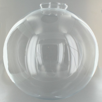 12in. Hand Blown Clear Glass Ball with 4in. Neck