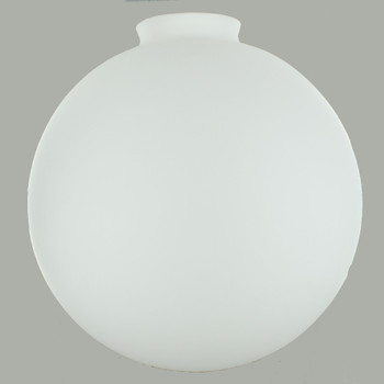 12in. Hand Blown Satin Opal Matter Glass Ball with 4in. Neck