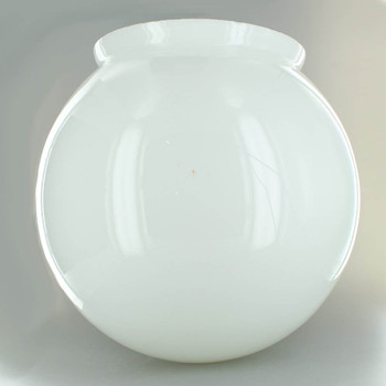 12in. Hand Blown Opal Gloss Glass Ball with 8in. Neck - USA