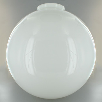 12in. Hand Blown Opal Gloss Glass Ball with 4in. Neck - USA