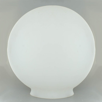 12in. Hand Blown Satin Opal Matte Glass Ball with 6in. Neck