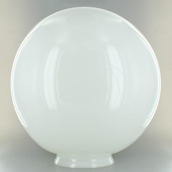 12in. Hand Blown Opal Gloss Glass Ball with 5in. Neck - USA