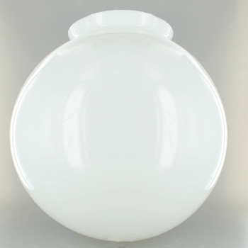 12in. Hand Blown Opal Gloss Glass Ball with 6in. Neck
