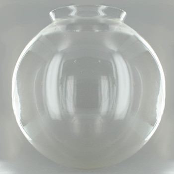 12in. Hand Blown Clear Glass Ball with 6in. Neck - USA